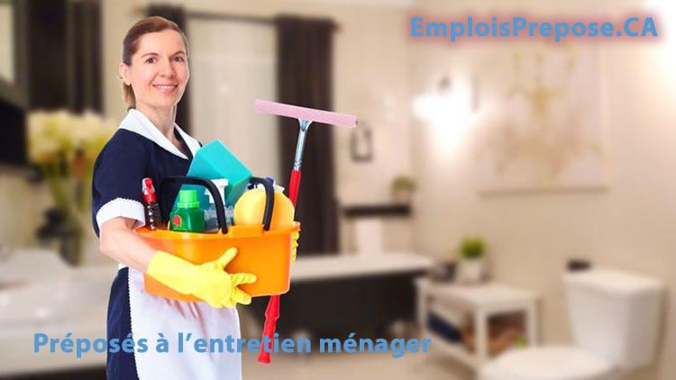 Description du métier de préposé à l'entretien ménager